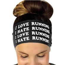 Hairbands Girls Headwear Headbands Head Wrap Band Bandana Letters Printed Sweatband Stretch Fitness Headband Hair Band