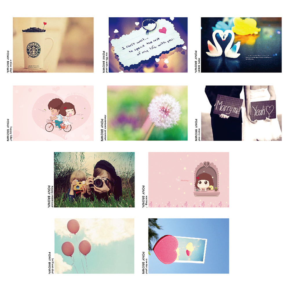 100pcs Beautiful Creative Mini Celebration Card Postcard Small Card  Mini card Greeting Card Postcard (Random Pattern)