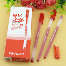 72 pcs/Lot Basic liner gel pen Classic 3 color office School ballpoint pen 0.5mm