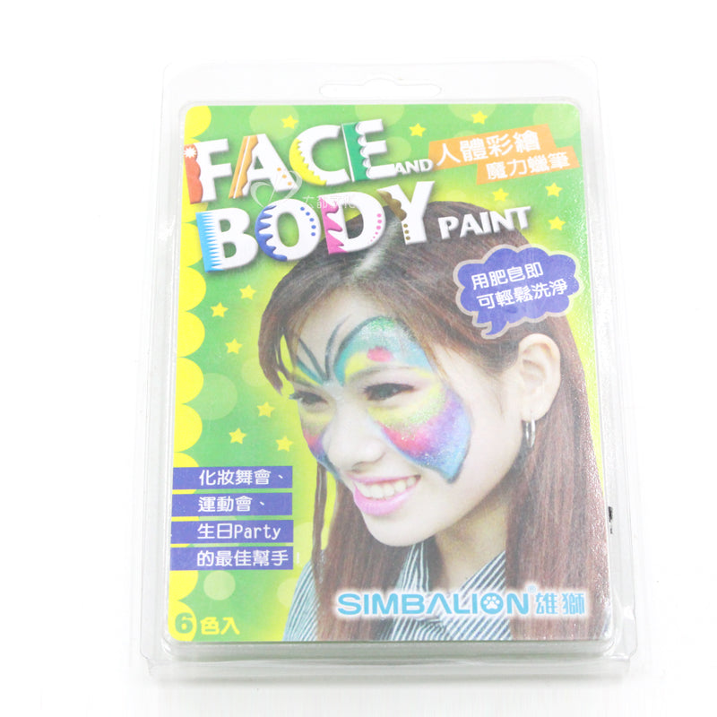36 pcs/Lot 6 color Wax crayon for face and body Fancy make up painting Stationery School Party supplies 6888