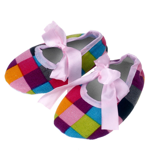 The Absolute Cutest Crib Sweet Plaid Baby Bow Soft Sole Toddler Shoes you have ever seen (0-18M)