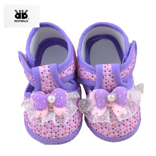 Princess Baby Girl Shoes First Walkers Soft Sole