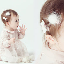1 Set Baby Girls Sequins Mink cashmere Bowknot Hairpin Headdress