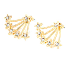 1 Pair Women New Popular Aloy Simple Star Stud Earring GD