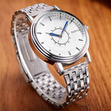 YAZOLE Men Watch Top Brand Luxury Famous Stainless Steel Strap Quartz Watch