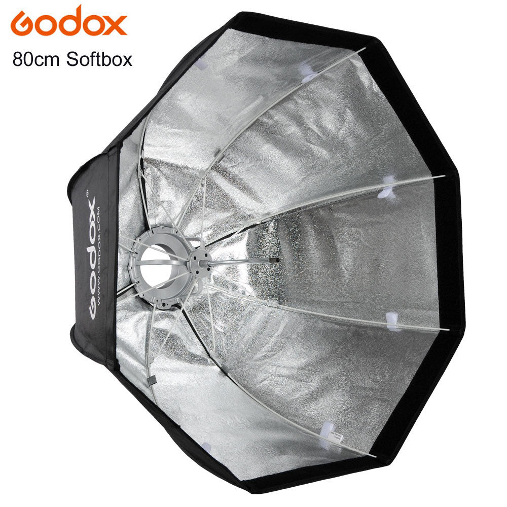 Godox Umbrella Convenient and Fast Style Octagonal 80cm SoftBox with Bowen Mount for Photo Studio Flash Photography