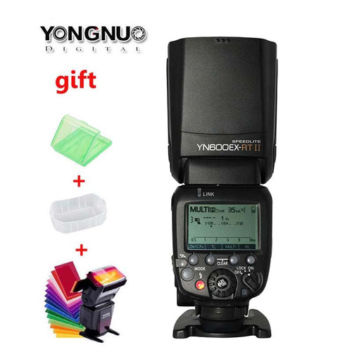 100% Genuine! YONGNUO YN600EX-RT II 2.4G Wireless HSS 1/8000s Flash Speedlite for Canon 1200D 1000D 600D Radio Trigger System