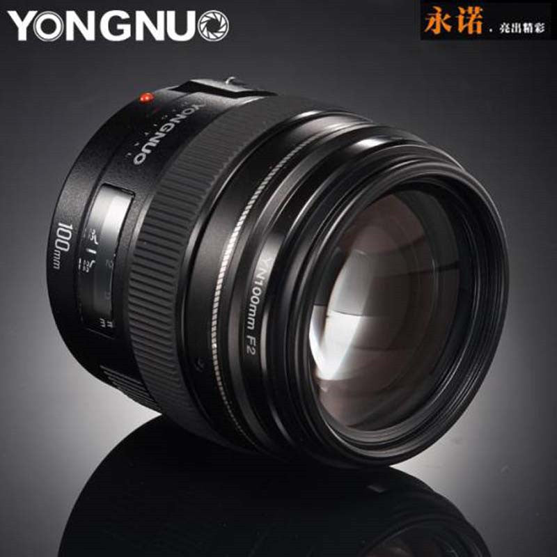 2016 NEW Yongnuo YN100mm F2 Medium Telephoto Prime Lens for Canon EOS Rebel Camera AF MF 5D 5D IV 1300D T6 760D 750D 1D 5DS