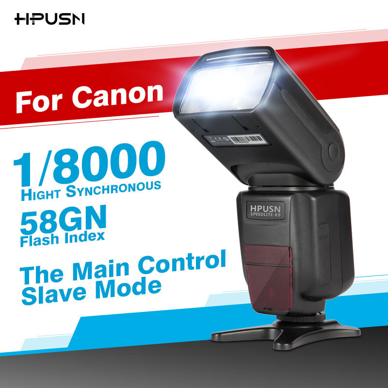 HPUSN HPK9 With TTL Master/Slave Wireless High Speed Sync 1/8000s Flash Speedlite for Canon 1100D 550D 650D 5D 5D3 DSLR Camera