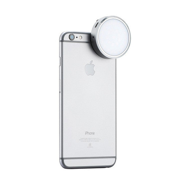 Newest YONGNUO YN06 Flash Speedlite LED Photo Light Silver Round Led Video Panel for iPhone 6 6S Plus and Smartphone