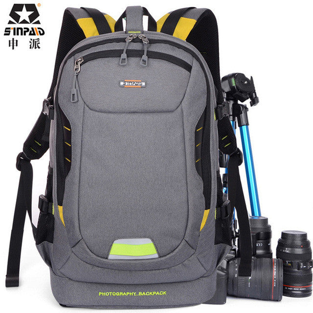 SINPAID Photo Ultra Durable Wear-resistant Waterproof Anti-theft Prevent Vibration Travel Camera Bags SLR Backpack Bag Case