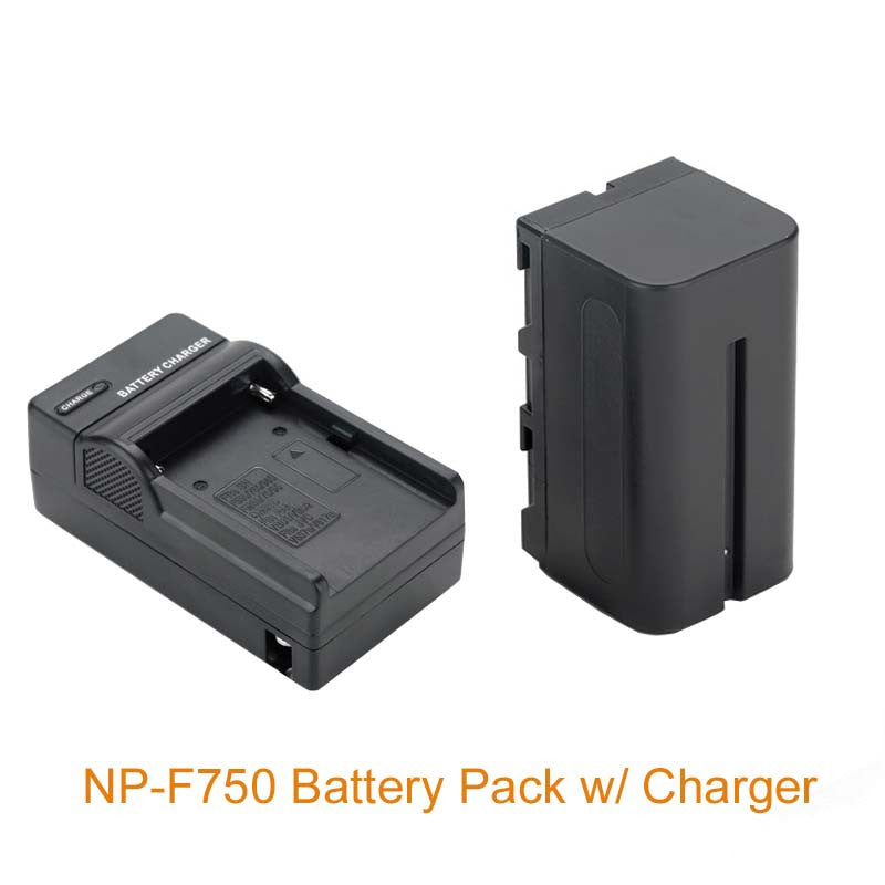 4600mah Battery Pack NP-F750 Rechargeable Battery NP F750 with Charger for YONGNUO Aputure LED YN300 III YN600 AL-H198 YN900