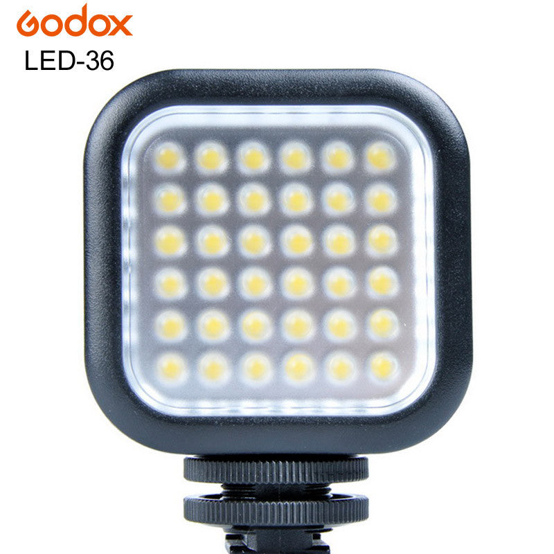 Brand Godox LED-36 Photographic Lighting LED Light Lamp for Camera DV Camcorder Canon Nikon Sony Pentax Olympus Panasonic DSLR