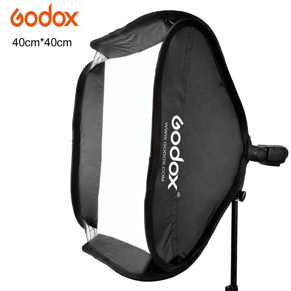 Godox 40x40cm Softbox Bag Kit fit Bowens Elinchrom Mount Honeycomb Dish Strobe Lamp  for Camera Studio Flash