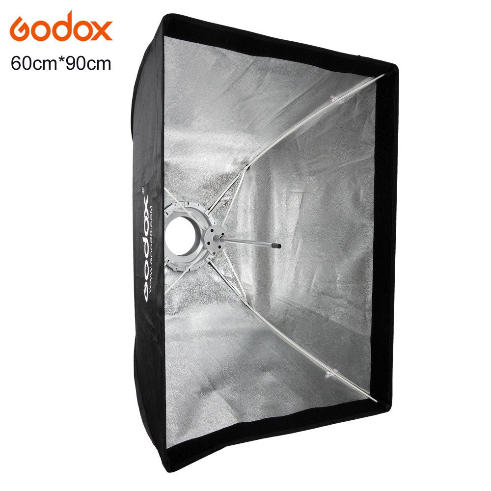 Godox 60x90cm Bowens Mount Studio Light Softbox Bowens Mount Aluminum Alloy Adapter Ring for Photo Studio Flash