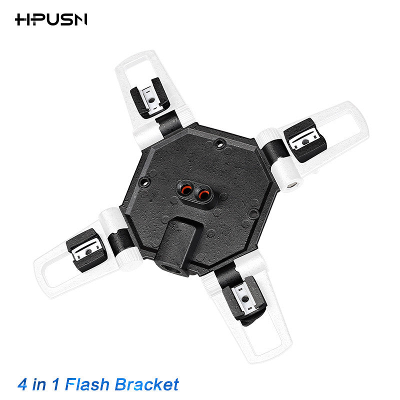 HPUSN 4 in 1 Triple Mount Adapter Flash Speedlite Umbrella Holder Light Stand hot Shoe Bracket