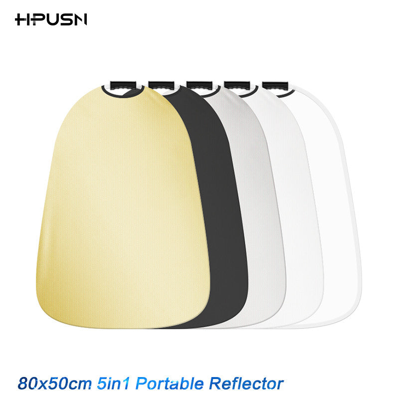 HPUSN 55x80cm 5 in 1 Portable Collapsible Light Photography Reflector Diffuser for Studio Multi Photo Disc