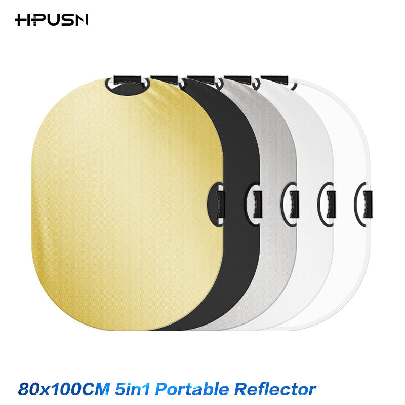 HPUSN 80x100cm 5 in 1 5in1 Portable Collapsible Light Photography Reflector for Studio Multi Photo Disc