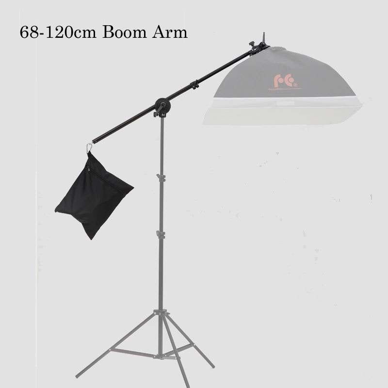 Photo Studio Boom Arm Top Light Stand 68-120cm 47inch Weight Bag Kit Photo Studio Accessories Extension rod