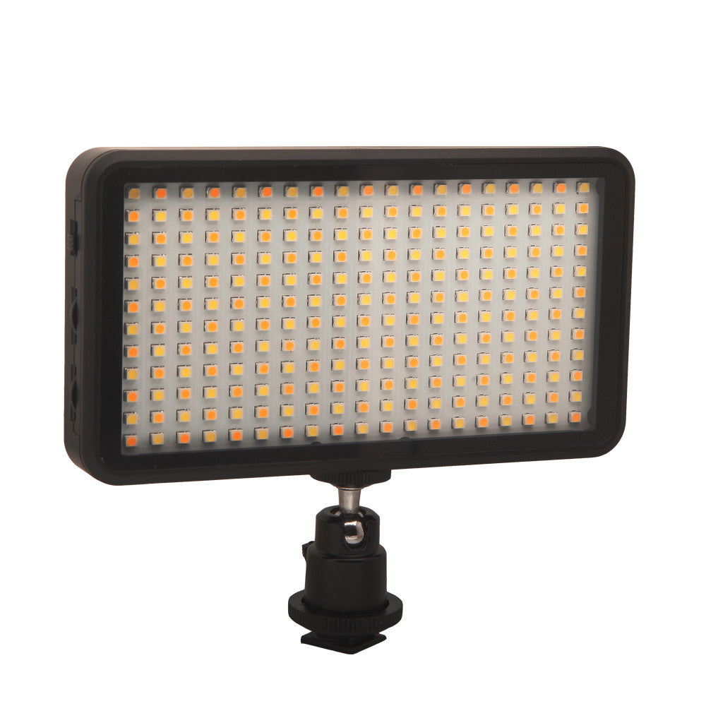 Portable New 228 LED Video Light Lamp Panel Dimmable 2000LM 3200K/6000K for Canon Nikon Sony DSLR Camera DV Camcorder