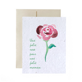 Carte Jolie Rose