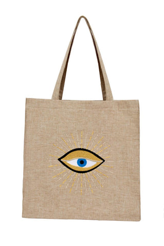 """Eye Linen Tote Bag"""