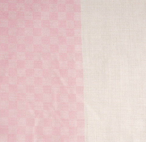 Baby pink checkered stole
