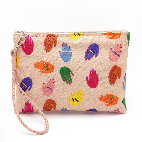 """Waving Hands""  Hand Pouch"