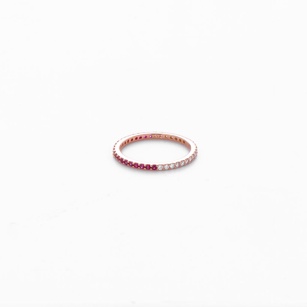 Dia and Ruby Eternity Ring
