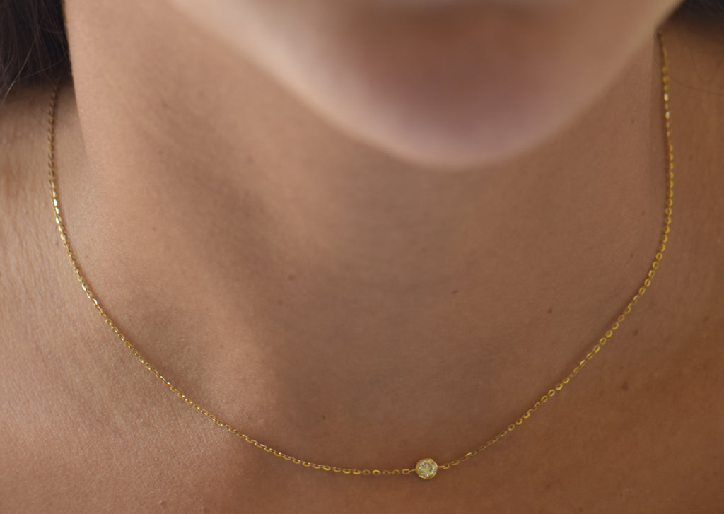 Solitaire Stone Necklace