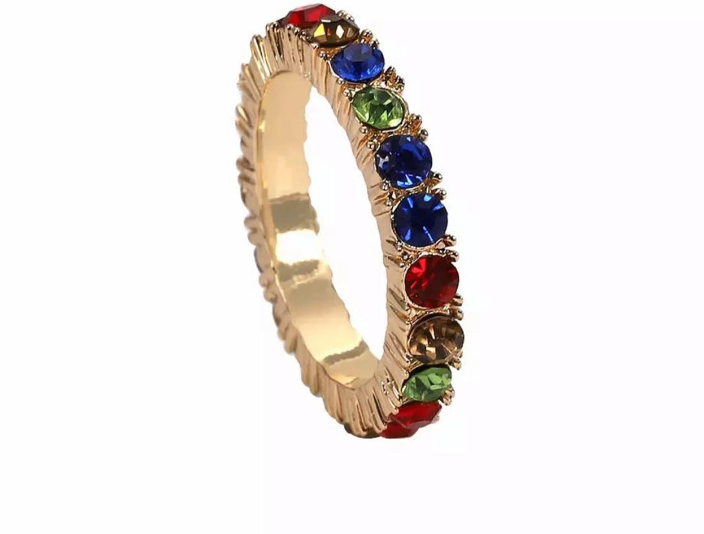 Thin Blue Green Red Ring