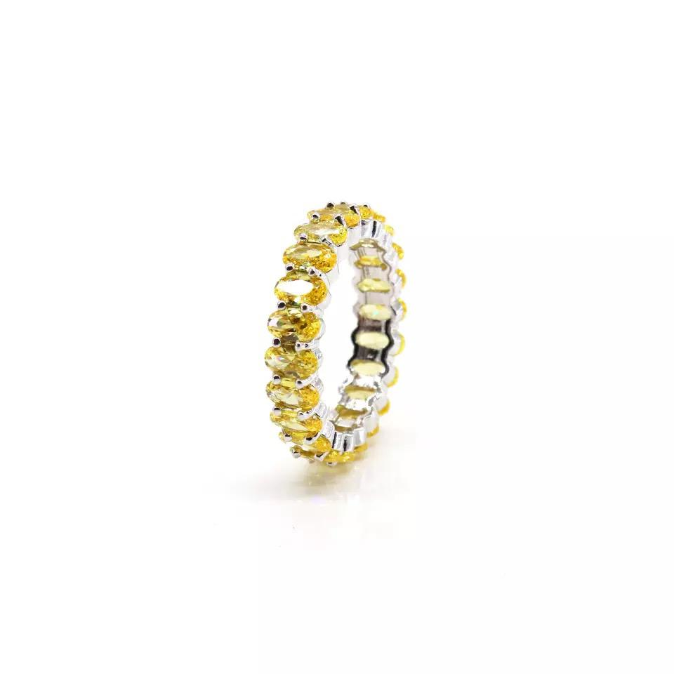 Oval Yellow Stones Ring