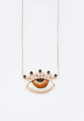 """Tiara Diamond and Gold Necklace"""