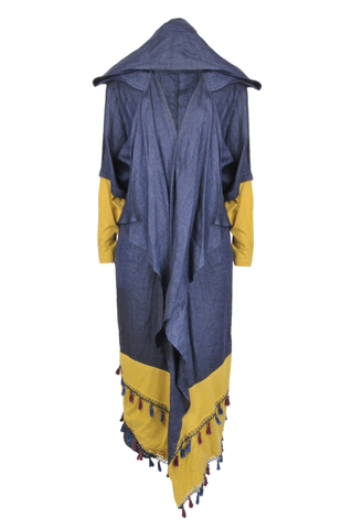Denim Yellow Abaya