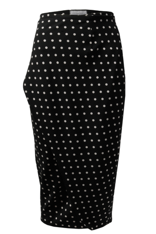 Black and White Pencil Cut Skirt