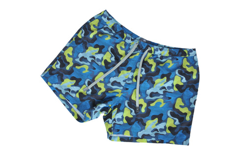 Velorum Blue Camouflage Shorts