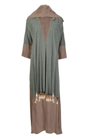 Brown & Grey Abaya