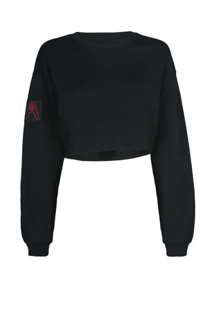 """Black Cropped Sweater"""