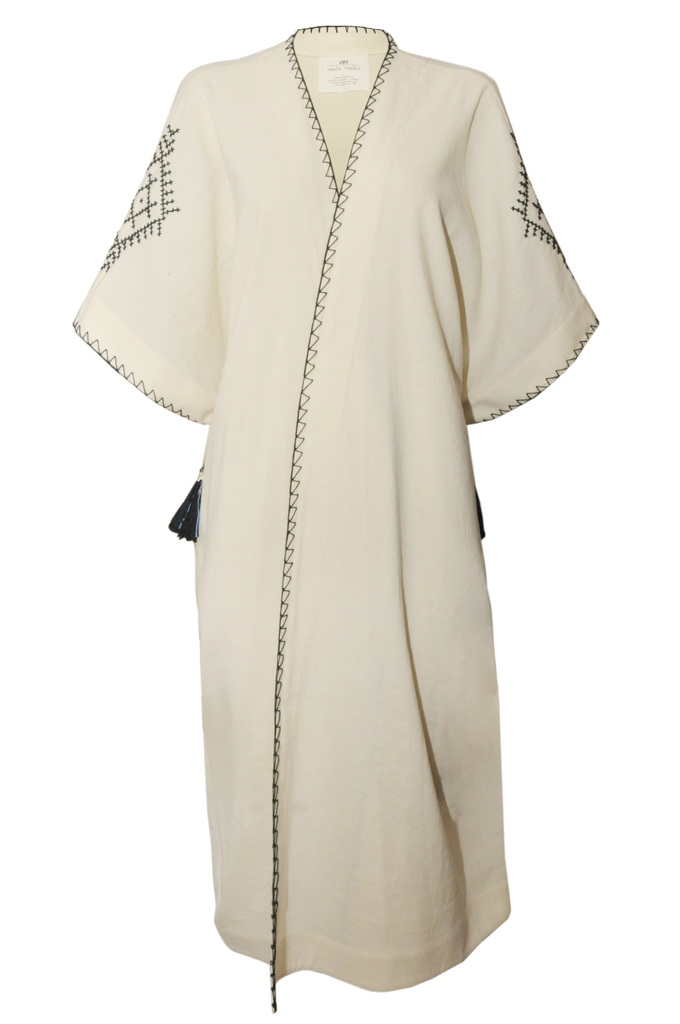 White Antique Sirma Abaya
