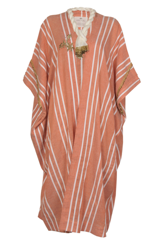 """Orange striped Midi Kaftan"""