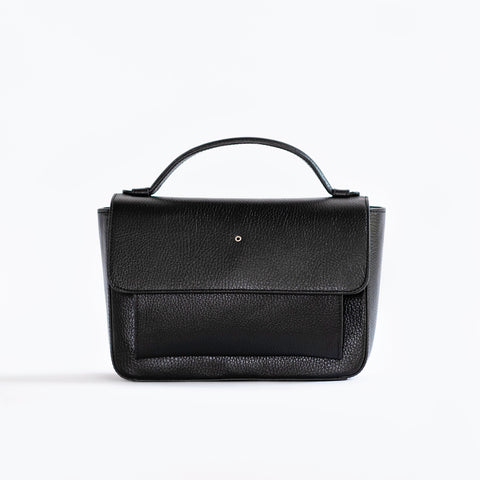 """Black One Hole Handbag"""