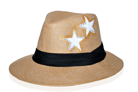 Hat with white stars