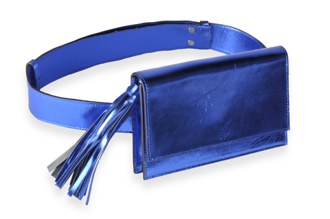 """Indigo Blue Belt Bag"""