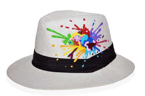 Hat with multicolor painting