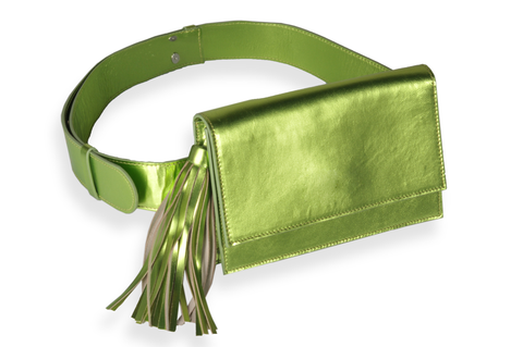 """Apple Green Belt Bag"""