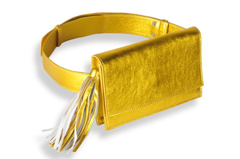 """Yellow Gold Belt Bag"""