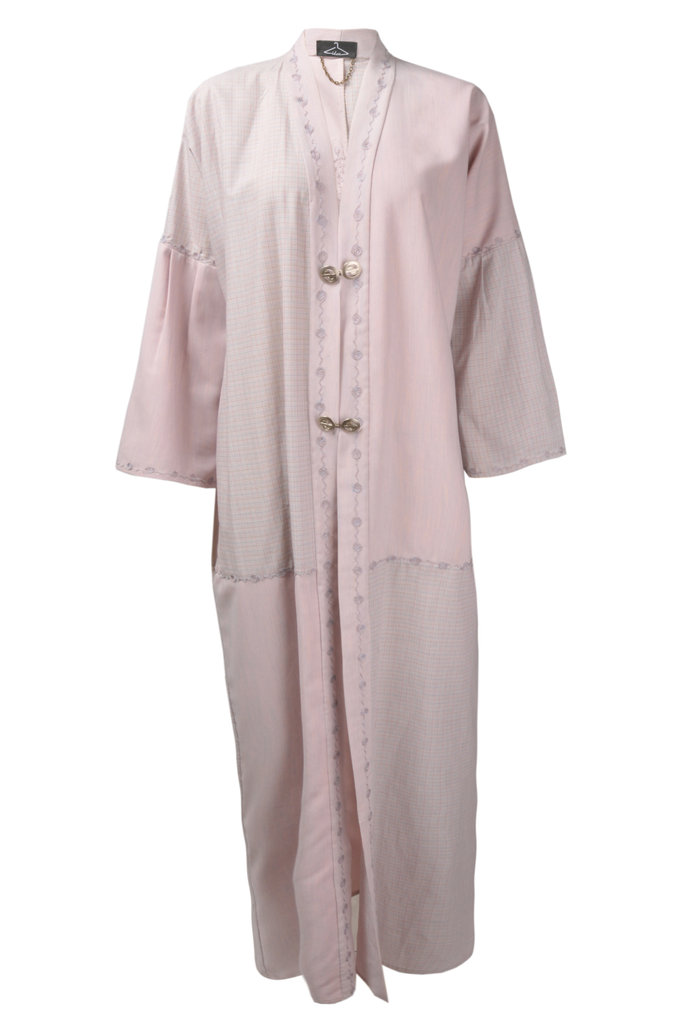 Pink & Grey Cotton Abaya X Ideas by Oak