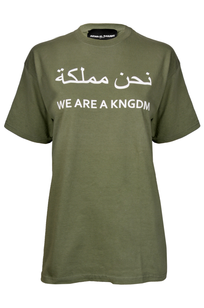"""We are kingdom"" Green T-shirt"