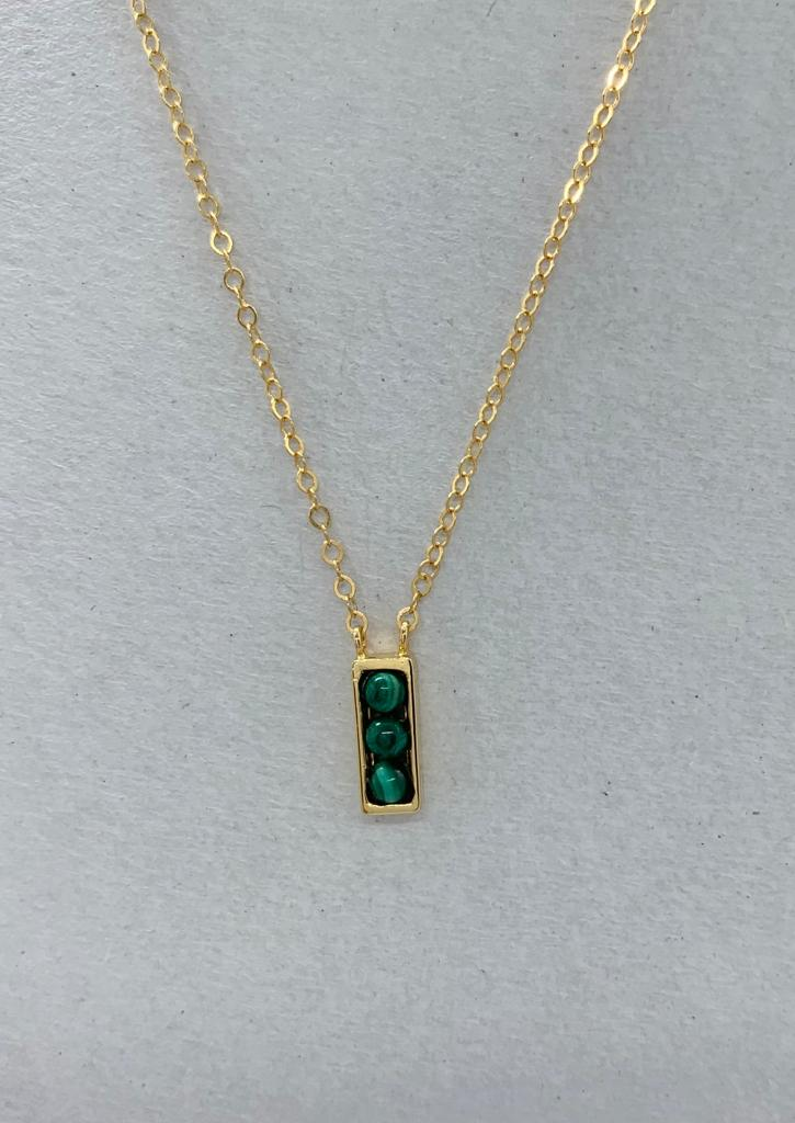 Malachite in gold designe 2