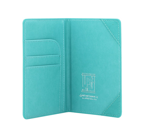 KSA Buildings Saudi Passport Cover T2 - Turquoise